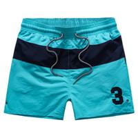 Wholesale Purple Mma Shorts - mma 2015 drawstring summer Men Fashion No.3 patch quick dry stripe polo shorts waist Swimwears Sport board surf short pants