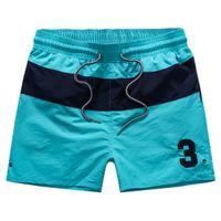 ingrosso patch applique per sport-mma 2015 estate coulisse Moda uomo No.3 patch quick dry stripe polo shorts vita Costumi da bagno Sport da surf pantaloni corti