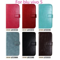 Wholesale Blu Vivo Case - For blu vivo 5 Top fashion luxury Flip Wallet Leather Case Cover Photo Frame Card Slots For blu vivo 5