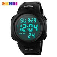 Wholesale Diver Watch Army - Wholesale-Hot Sale 2015 Sports Watches Men SKMEI Brand LED Electronic Digital Watch 50M Swim Dive Alarm Outdoor Casual Military Army Watch
