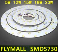 panel circular led 12w al por mayor-5W 12W 15W 18W 23W de techo SMD LED 5730 tablero de AC220V Ronda de panel LED AC85-265V anillo circular de luz de lámpara magnética con el imán