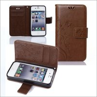 Wholesale I Phones Cases 4s Wholesale - free shipping pu leather case for iphone i 4 4G 4S cell phone wallet case card slot
