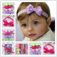 Wholesale handmade infant headbands for sale - Group buy Baby handmade ribbon bow Headbands Children s Boutique elastic head bands Hair wear Infant Fashion headdress Cute Hair accessories Hairbands