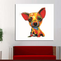 Wholesale Best Hand Painted Canvas - Funny Product Animal Paintings Smile Dog Canvas Oil Painting Hand Painted Decor Art Living Room Best Gif