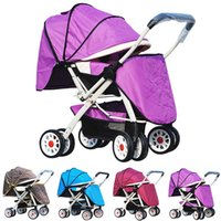 Wholesale Two Way Stroller - Widen Baby Stroller Two-Way Four Wheels Baby Cart Lightweight Foldable Children Strollers Prams Pushchair Infant By JN0027 Smileseller