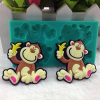 Wholesale Silicone Monkey Mould - Animal Silicone soap mold monkey shape cooking biscuit tools kitchen cake mold cupcake soap mould