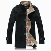 Wholesale Stylish Men Trench Coats - Fall-Hot Sale 2015 Fashion Winter Mens Jackets Coats High Quality Wool Trench Coat Men Parka Coat Male Stylish homme Pea Coat 5XL