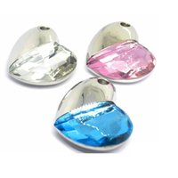 Wholesale Heart Usb Flash Disk - 2016 Crystal Heart Lovers U disk Stick Pen Drive Real USB Flash Memory the best gift on Valentine's day 4GB 8GB 16GB 32GB with packaging