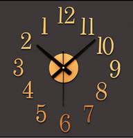 Wholesale Quartz Clock Motors - Reversed motor DIY digital wall clock decorative wall clock wall stickers clockwise fashion watches creative cute when reversing