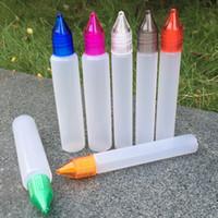 bolígrafos con forma de cigarrillo al por mayor-15 ml 30 ml cuentagotas Plástico PE Eliquid botella vacía de plástico e botellas de líquido Pluma Forma largo tapas a prueba de niños Para e-cigarrillos e-jugo
