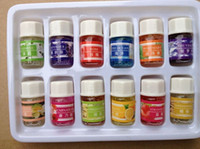 Wholesale Pure Sandalwood - DHL EMS 12pcs set 100% Pure Lavender Sandalwood Essential Oils Pack for Aromatherapy with 12 kinds of Fragrance 3ml bottle
