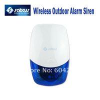 ingrosso sirena esterna gsm-Corno sirena allarme esterno impermeabile senza fili con luce stroboscopica di avvertimento sonoro 120dB per sistema di allarme GSM
