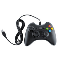Wholesale-Freeshipping Black USB Wired Game Controller Joystick Gamepad para Tablet Laptop PC