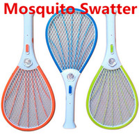 Wholesale Rechargeable Electric Insect Fly Killer - Mosquito Nets Swatter Bug Insect Electric Fly Zapper Killer Racket Rechargeable With LED Flashlight Household Sundries Pest Control