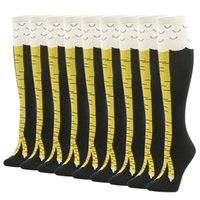 Wholesale Thin Knee High Socks - Best Sell Gmark Men and Women Crazy Thin Funny Chicken Socks Cluck Legs Knee-High Fitness Gifts Socks