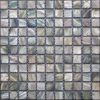 Wholesale Interior Wall Color - 2016 style HYRX shell mosaic tiles mother of pearl tiles dye grays color Factory direct sale;kitchen backsplash