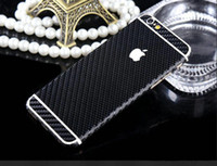 Wholesale Iphone Vinyl Stickers - Carbon Fiber Vinyl Wrapping Film Wrap Full Body front Back Screen Protectors Wrap Films sticker for iphone 6 6S Plus 5S 200pcs