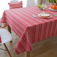 Wholesale White Linen Table Cloth - Linen Table Cloth White Deer American Style Printed Christmas Tablecloth Nappe Table Cover Manteles Para Mesa Toalha De Mesa