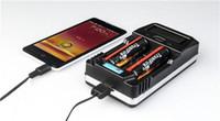 ingrosso fuoco e cig-Original Trust fire TR-011 caricabatterie trustfire universal Intelligent US carica per 26650 18650 18500 18350 14500 Li-ion batteria e cig 10pc DHL