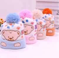 neugeborene mützen großhandel-Baby Hut Kinder Winter Hüte Neugeborenen Kappe Hot Super Soft Cashmere Beanie Bonnet Für Jungen Mädchen