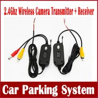 Wholesale Gps Reversing - 2.4 Ghz Wireless Video Transmitter Receiver Kit for Car Rear View Camera Reverse Camera Car DVD Player GPS with RCA Ports