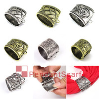 Wholesale Open Bail - New Style Pendant Scarf Jewelry Accessories 7 Design Mixed Spring Opening & Closing System Scarf Pendant Slide Bails Tube, Free Shipping, A1