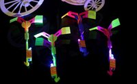 Wholesale Slingshot Helicopter Led Lights - Novelty Kids LED Flying Toys Biggest Size Slingshot Amazing Arrow Helicopter For Birthday Party Supplies
