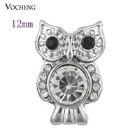 Wholesale Owl Diy - Petite Noosa Chunks Owl Style 12mm Small Chunk Snap Button Jewelry DIY Noosa Jewelry Accessory (Vn-239)