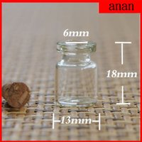 Wholesale Mini Seed Glass Beads - Free Shipping 50 pcs Wholesale Crystal Wishes bottles with Fit Mini Glass Seed Beads Package 13*18*6mm