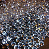 Wholesale scatter crystals table decorations resale online - 5000pcs set mm Acrylic Clear Diamond Confetti Wedding Party Table Scatters Decoration