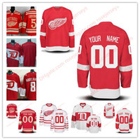 Wholesale Womens Wings - Stitched Custom Detroit Red Wings mens womens youth kids OLD BRAND White Centennial Winter Classic Customized Red Ice Hockey Jerseys S-4XL
