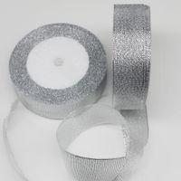 Wholesale 3mm glitter for sale - rolls glitter gold silver polyester satin ribbon MM MM MM MM MM MM MM MM MM