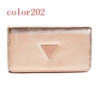 Wholesale Brand Folder - fashion women PU leather brand wallet long folder purse European style new arrival color201-204