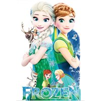 Wholesale Fever Stickers - Frozen fever Wall Stickers for Kids Rooms Removable Wall Decals Cartoon Elsa Anna Olaf Let It Go Princess Queen Stickers