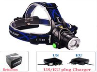 Wholesale Lm Zoomable Headlamp - Free Epacket,2015 New CREE XML T6 LED 2000LM Headlamp Headlight Head lamp light 2000 Lm Zoomable Zoom torch IN OUT+Charger+BOX
