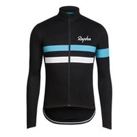 Wholesale Cream Long Sleeve - Hot New autumn cycling clothing Long Sleeves Rapha Cycling Jerseys racing bicycle Shirt Comfortable Breathable Bike Wear L0701