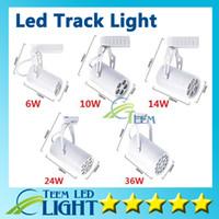 ingrosso la luce del punto di inseguimento-CE ROHS UL Led Track Light 6W 10W 14W 24W 36W 120 Angolo d'apertura a soffitto Faretto a soffitto AC 85-265V illuminazione spot a led