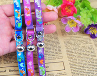 Wholesale print suppliers - Fashion Small Pet Collar With Bell Soft PU Cute Dog Cat Necklace With Bell Safety Pet Collar Wholesale Pet Supplier Mix Order 10PCS LOT