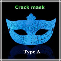 Wholesale ball masks sticks - Hot sale Venetian masquerade ball mask Music masks crackle half face pvc mask on a stick Festive party supplies crackle mask with colors