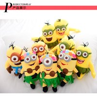 Wholesale Minions Sale Stuff - Hot sale 11.8inch 30cm 3D Despicable Me 2 movie Minions plush toy hawaii stuffed plush doll for child christmas birthday gift