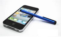 ich berühre bildschirm großhandel-Kapazitiver Screen Stylus Touch Pen mit Clip für iPhone 4 iPhone 5 / iPad / Mini iPad / I Touch
