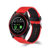 бесплатная регистрация оптовых-V9 Smart Watch one piece/sample SIM интеллектуальный мобильный телефон часы могут записывать состояние сна смарт-часы с пакетом бесплатно DHL
