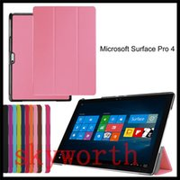 Ultra estojo de couro slim Folio Virar Smart Cover para o Microsoft Surface3 Superfície pro 3 4 10,8 12,3 polegadas Tablet PC