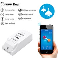 Wholesale Remote Control Switch Module - Sonoff Dual 2CH Wifi Smart Switch Home Remote Control Wireless Switch Universal Module Timer Wi-fi Switch Smart Home Controller 2608016