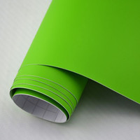 Wholesale Vehicle Wrap Bubbles - 1.52x2m 5x7ft removable vehicle wrap vinyl matte vinyl wrap Apple Green air bubble free for car bonnet wrapping
