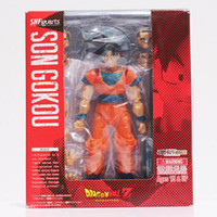 Wholesale Dragon Ball Action Toy - Anime SHFiguarts Dragon ball z Toy Figure Goku Figures Son goku PVC Action Figure Chidren Favorite Gifts 15cm