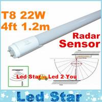 Wholesale Led Tube Sensor - 4ft Led Tube With Radar Sensor T8 Led Lights Tubes 22W 1.2m 1200mm Led Fluorescent Lights AC 85-265V ce rohs ul