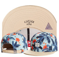 Wholesale Trees Snapback - ON SALE Fashion Ball Caps tree and flower Cayler & Sons men snapback autumn summer winter hip hop street cotton adjustable hats for women TY