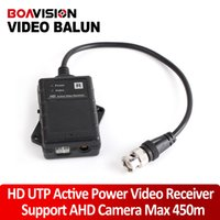 Wholesale Active Utp Video Balun - HD UTP Network Active Power Video Receiver Balun CAT.5e,CAT.6,CAT.6e,CAT.7 To Camera CCTV BNC Support 720P AHD Camera Up To 500m