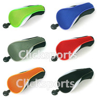 Wholesale Hybrid Club Head Covers - Wholesale Seven colour Mesh Material Golf Hybrid Headcover   UT club Head Covers With a Interchangeable No. Tag 3 4 5 7 X